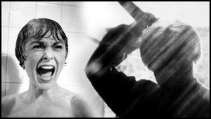 Kadr z Psychozy Hitchcocka