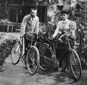 Maria Sklodowka-Curie z mężem, 1906