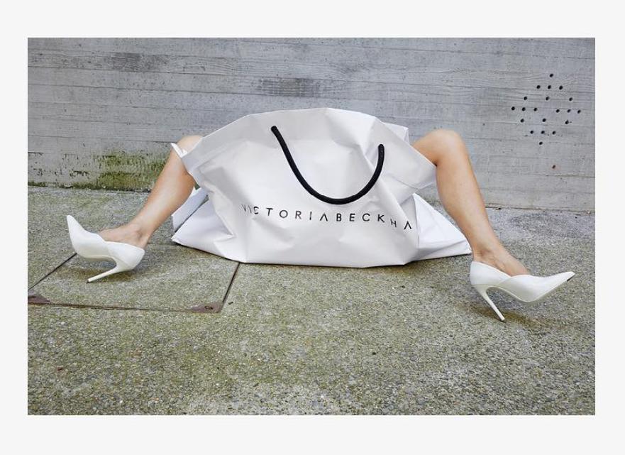Victoria Beckham w torbie
