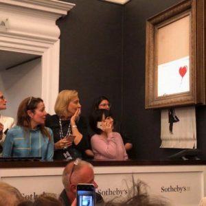 Obraz Banksy'ego zniszczony w niszczarce w domu aukcyjnym Sotheby's w Londynie (instagram.com/banksy)